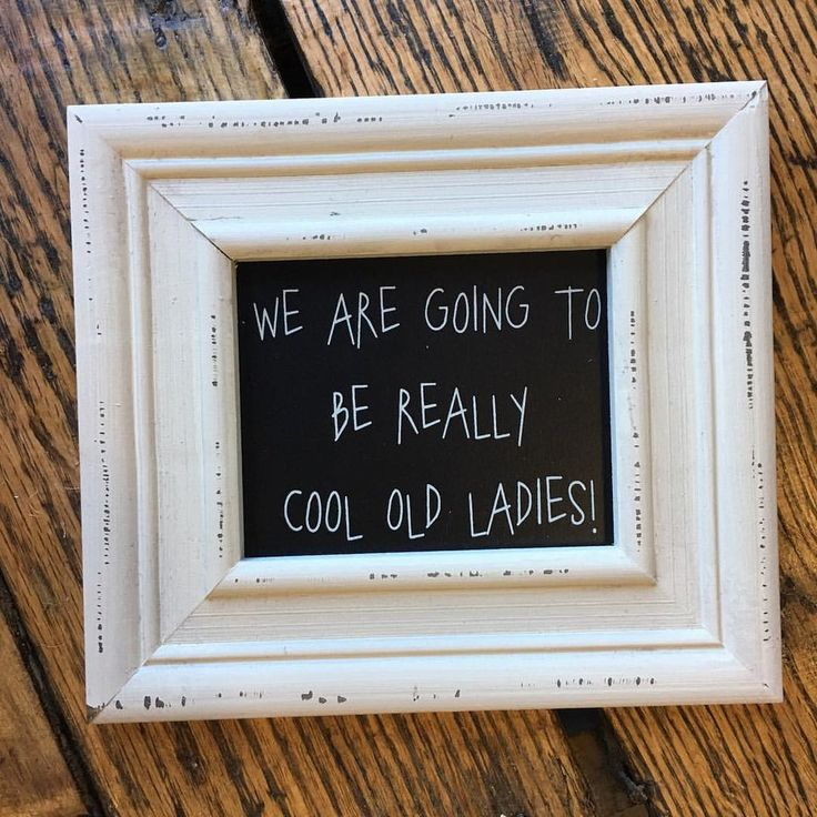 Cool Old Ladies Sign