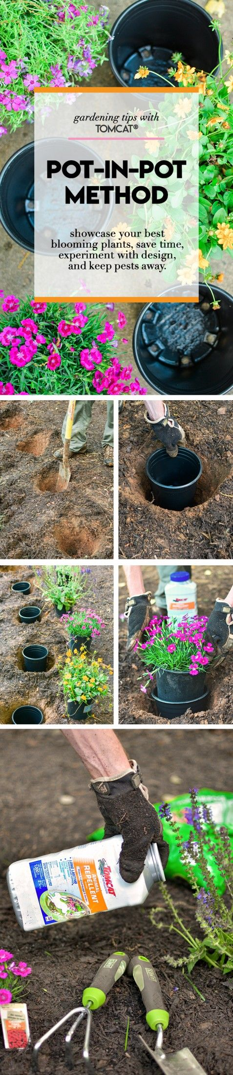 Create beautiful blooming flower beds by utilizing the Pot-in-Pot method. It's...
