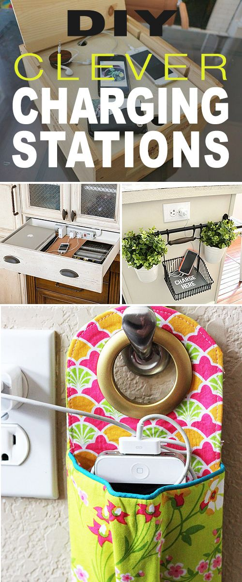 Diy crafts diy clever charging stations try these do it diy clever charging stations try these do it yourself clever charging stati solutioingenieria Gallery
