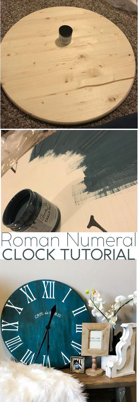 DIY Clock Tutorial - Woodworking Home Decor