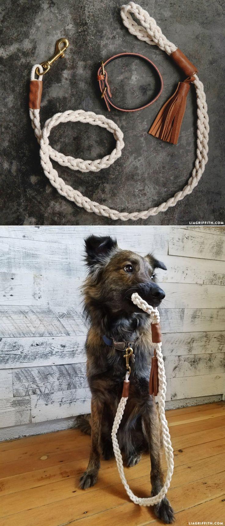 DIY #DogLeash tutorial at www.LiaGriffith.com: