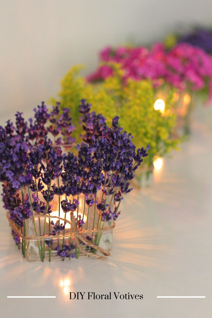 DIY Floral Votives