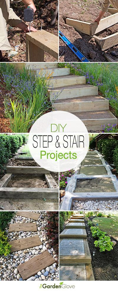 DIY Garden Steps and Stairs • A round-up with great ideas & tutorials of step ...