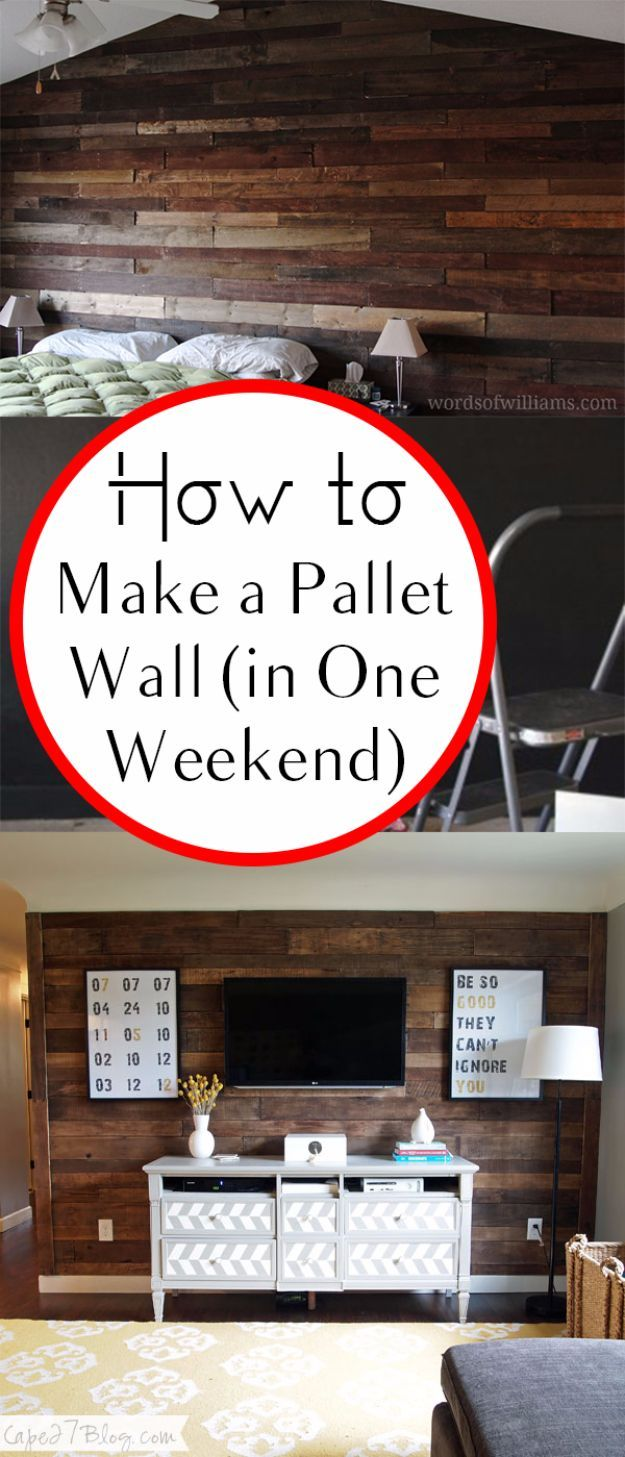 DIY Home Improvement On A Budget - Make A Pallet Wall - Easy and Cheap Do It You...