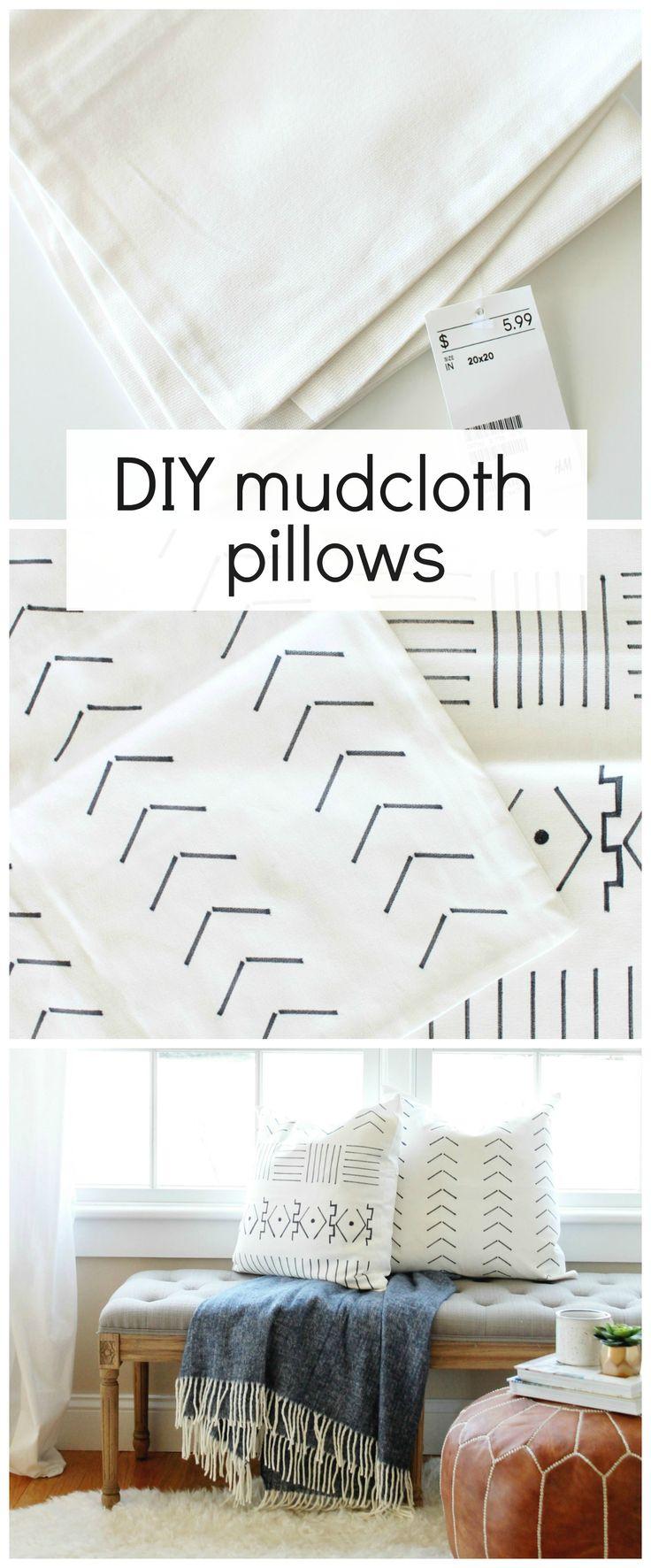 DIY Mudcloth Pillows