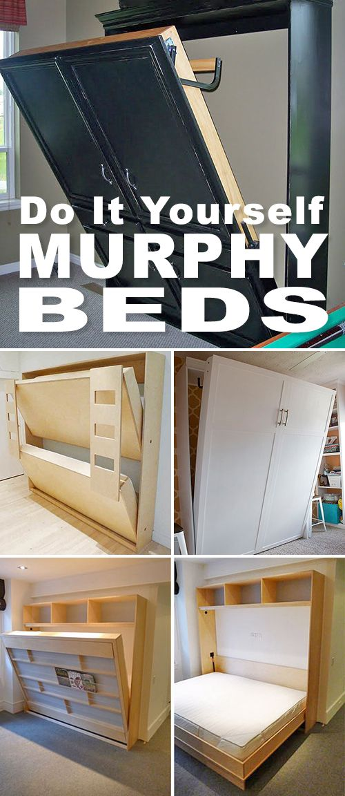 DIY Murphy Beds! • Tons of ideas and tutorials! • Browse this post and pick ...