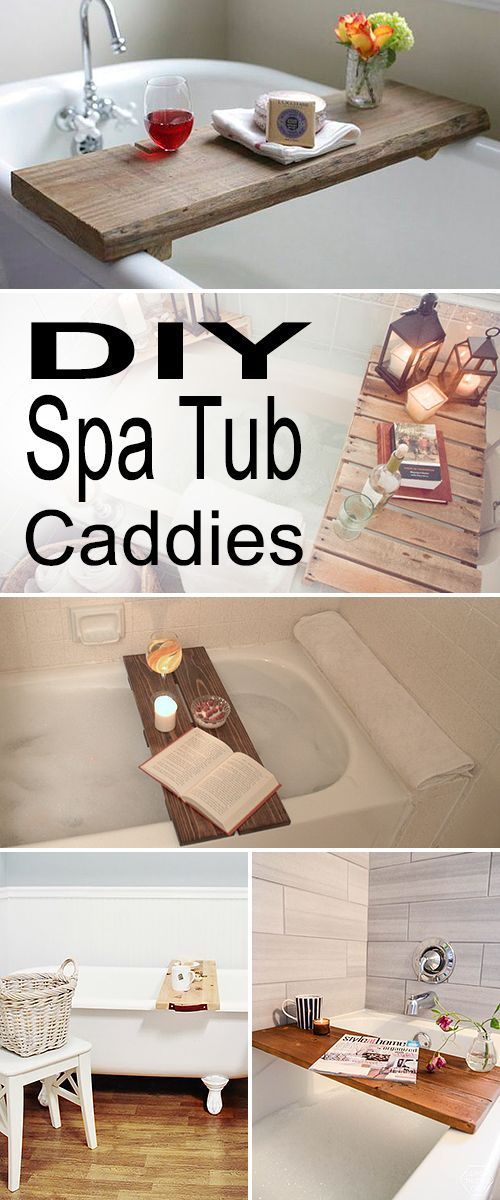 DIY Spa Tub Caddies! • Check out all these wonderful diy projects and tutorial...