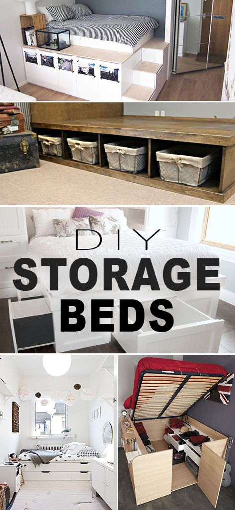 DIY Storage Beds • Great how-to tutorials on building a storage bed for an org...