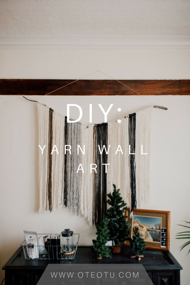 Diy Crafts Diy Yarn Wall Art Do It Yourself Yarn Wall