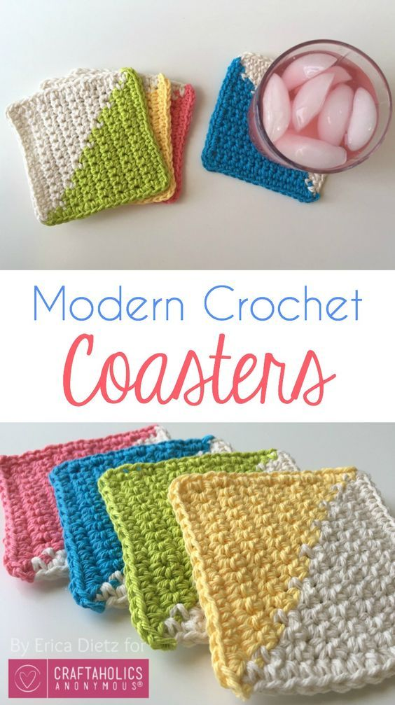 DIY coasters pattern! This modern design is such an easy tutorial, get ready for...
