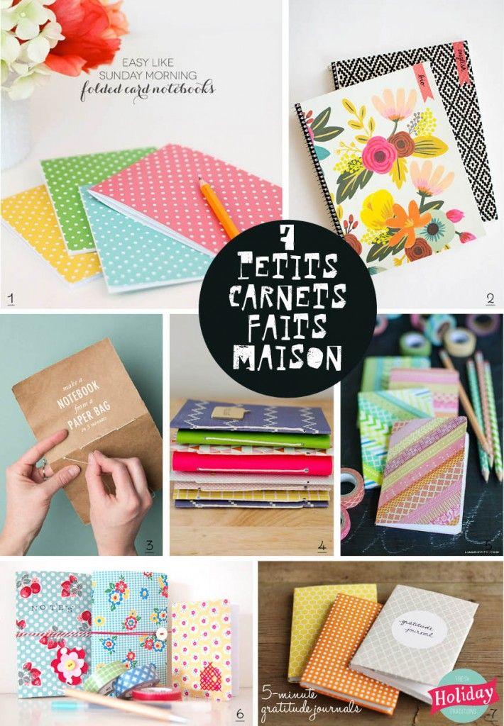 DIY notebooks // 7 petits carnets faits maison