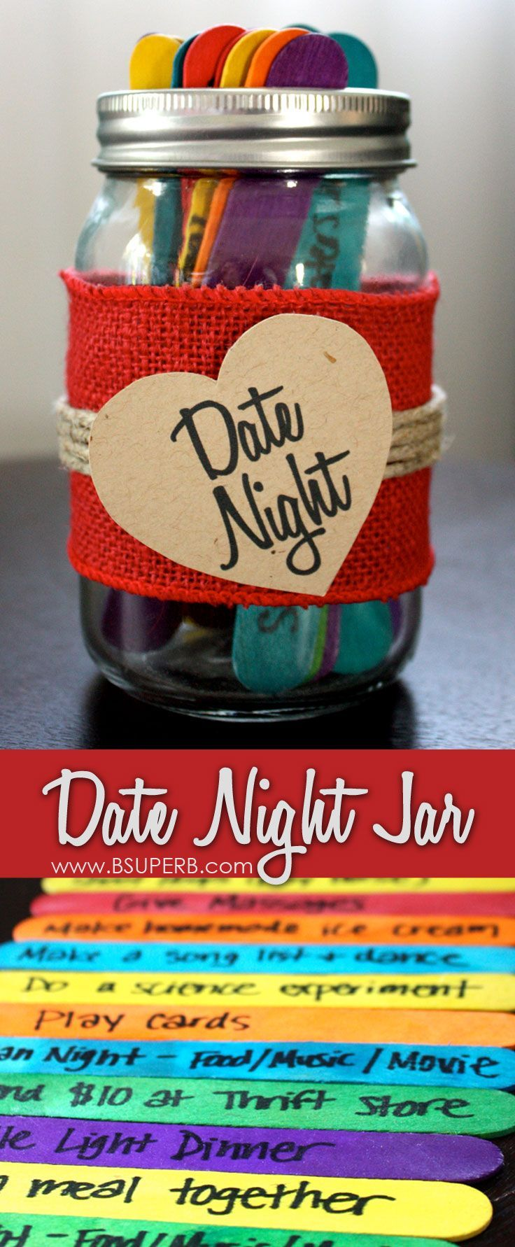 Date Night Jar - how to create it and date night ideas!
