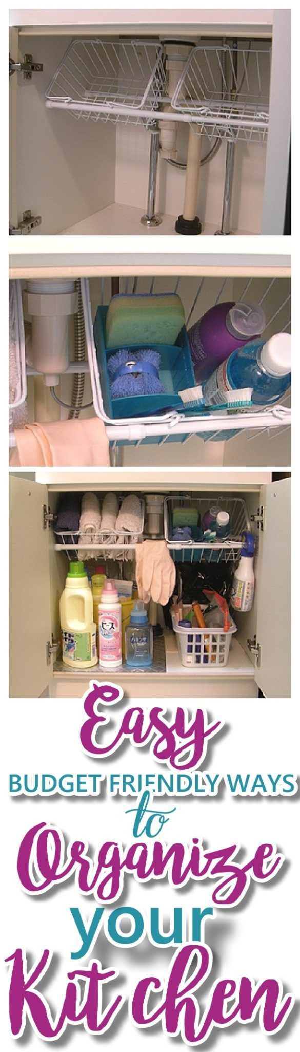 EASY Budget Friendly Ways To Organize Your Kitchen - The very best CHEAP, quick ...