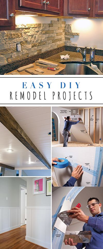 Easy DIY Remodel Projects • Ideas & Tutorials for projects like backsplash, dr...