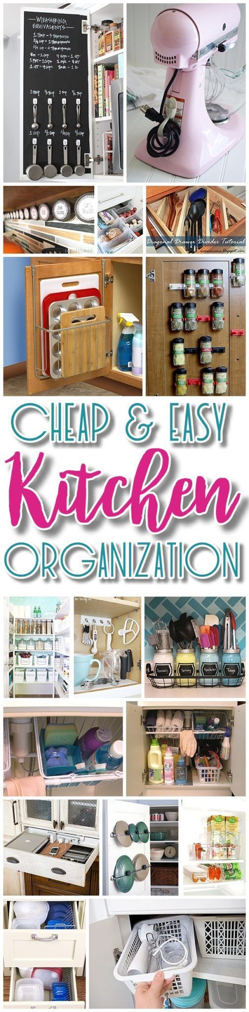 Easy and Budget Friendly Ways to Organize your Kitchen - Hacks, Ideas, Space Sav...