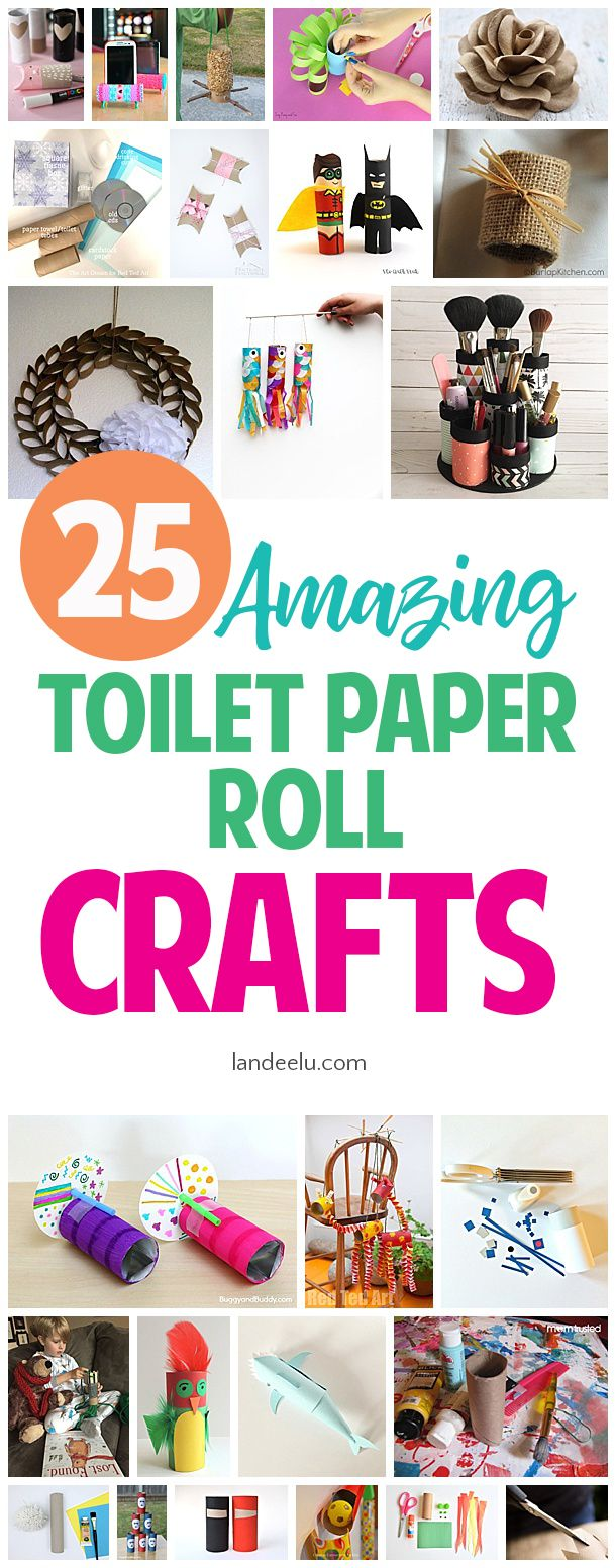 Empty toilet paper rolls are so useful and fun in crafting! Lots of awesome toil...