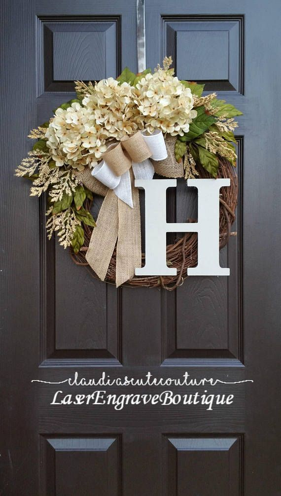 Fall Wreath,Cream Hydrangea Wreath,Summer Wreath,Spring Wreath,Year Round Wreath...