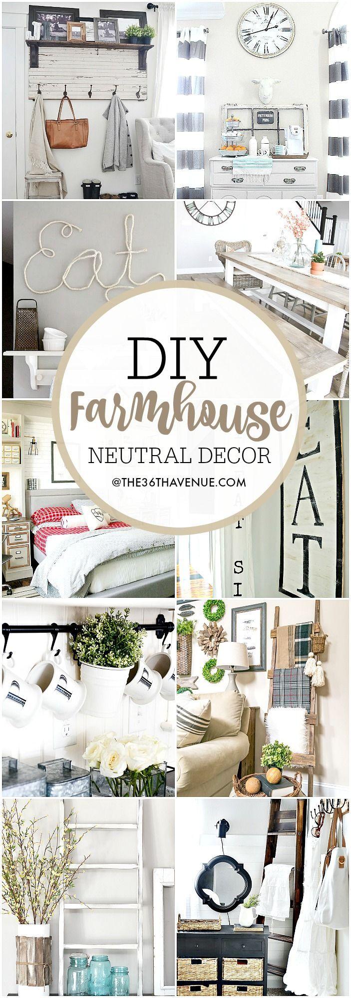 Farmhouse DIY Decor Ideas - Over 100 DIY Farmhouse Home Decor Ideas that are per...