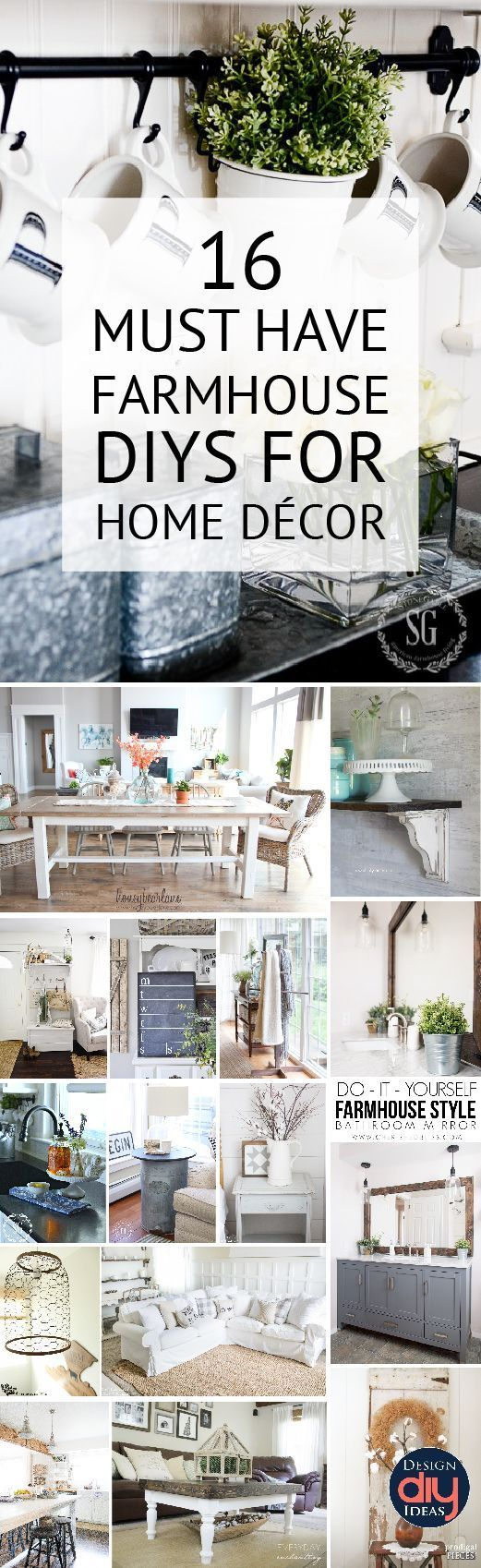 Farmhouse decor can easily be done with DIY home projects check out these great ...