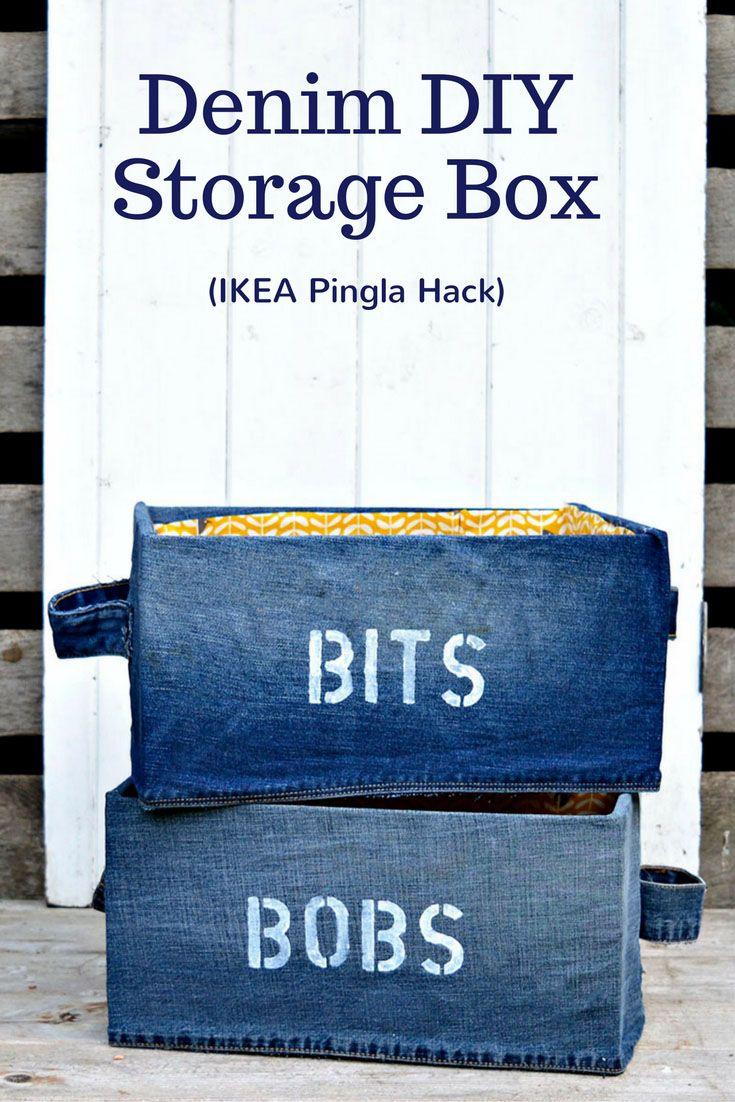 Fun Denim DIY Storage Box for your