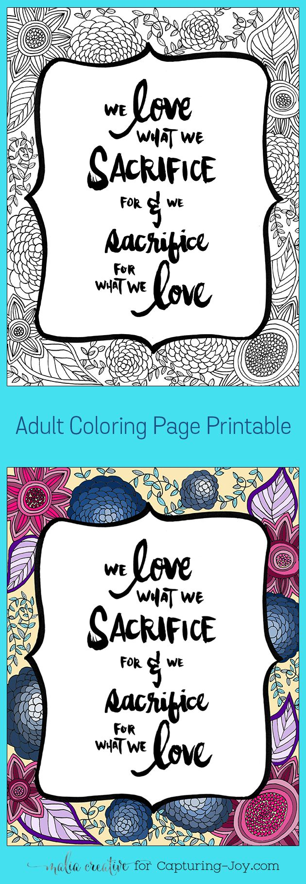 Fun adult coloring page. Free coloring printable. #coloringpage