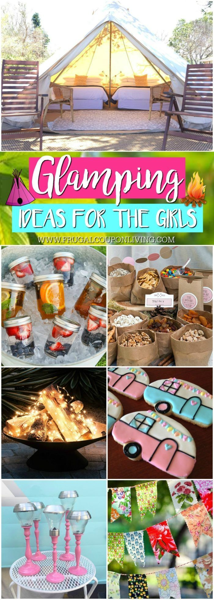 Glamping Ideas for the Ultimate Camping Trip for the Girls!Glamping: where stu...