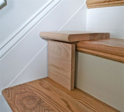 Great DIY tutorial for replacing carpet on stairs with wood.   I think I could S...
