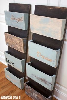 Hanging file folder or magazine Organizer - Very easy DIY project with step by s...
