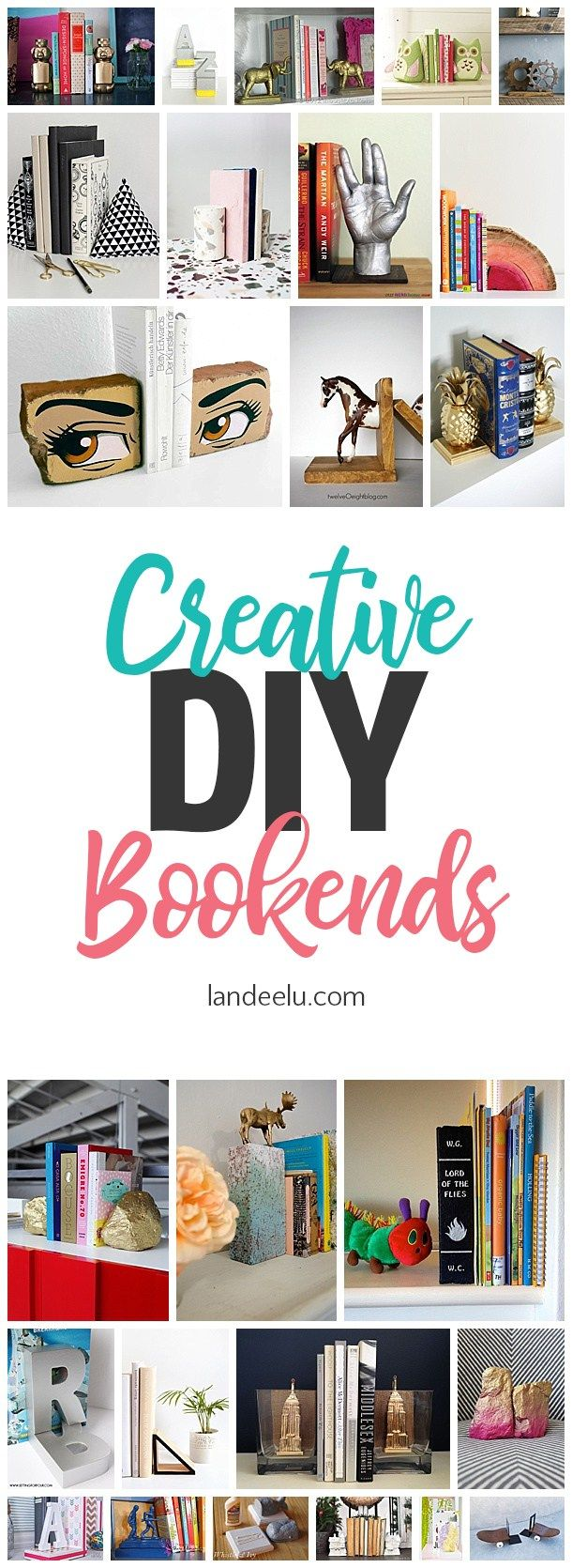 DIY Crafts : How cool are these creative DIY bookends? Such a fun ...