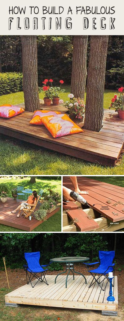 How to Build a Fabulous Floating Deck • Ideas, tips and tutorials! #DIY #DIYfl...