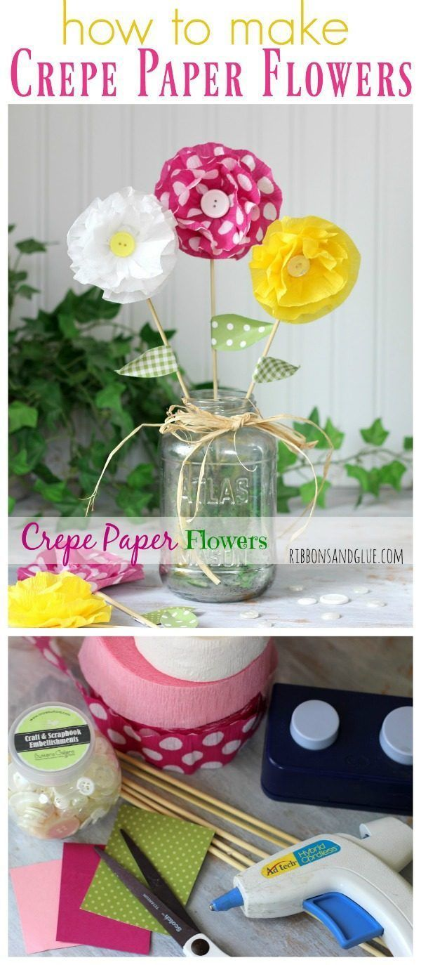 How to Make Crepe Paper Flowers | DIY paper flower tutorial | Easy Craft Idea | ...