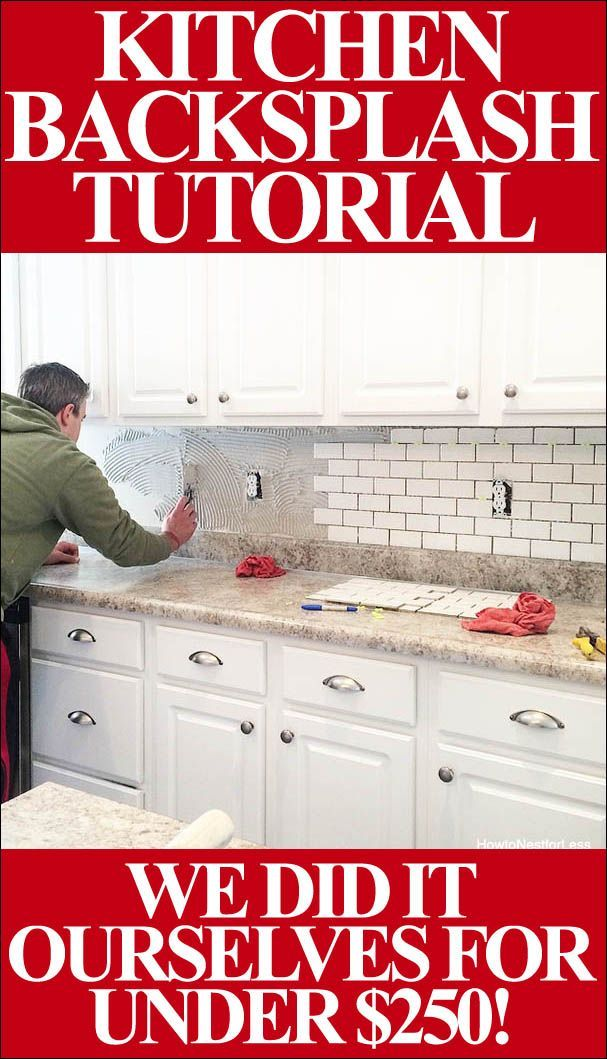 How to install your own kitchen backsplash (great step-by-step tutorial with sup...