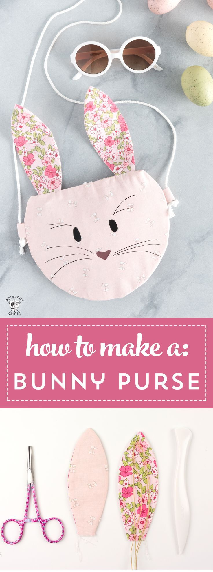 How to make a bunny purse, a free bunny sewing pattern for the Cricut Maker - cu...