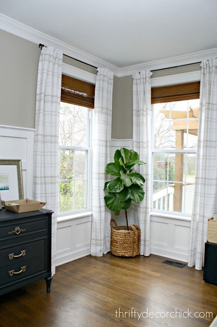 How to make store bought drapes look custom!