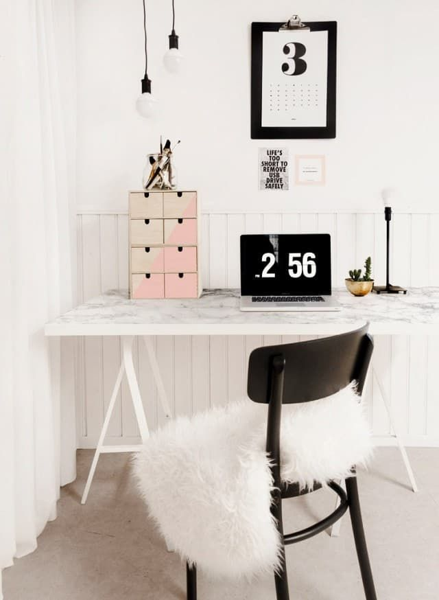 Ikea Hacks For Organized Office Desk And Worke Apartment Therapy