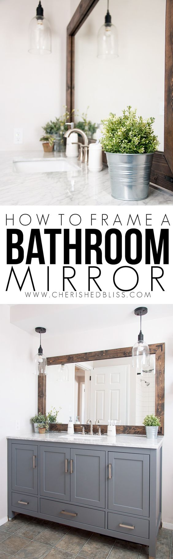 Improve The Value Of Your Bathroom With This Easy Tutorial On How To Frame A Bat