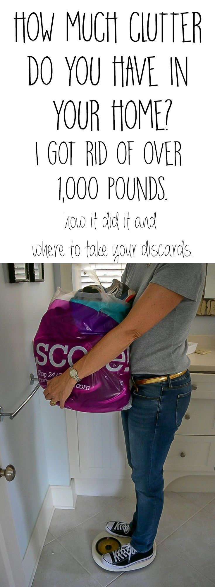 It's time to unclutter your home. The tips I used to remove over 1,000 pound...