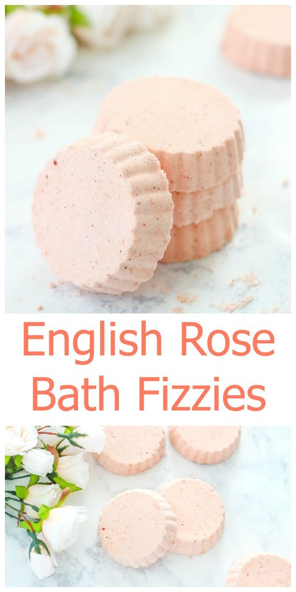 Make your own English Rose Bath Fizzies at home with this easy tutorial. These h...