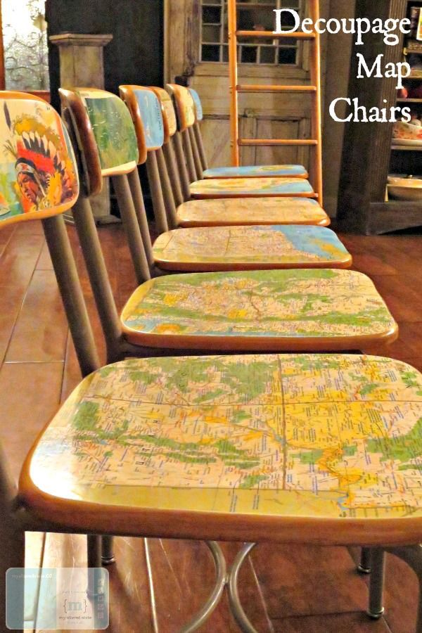 Map Desk Decoupage I know what you want to say to me. You want to tell me that y...