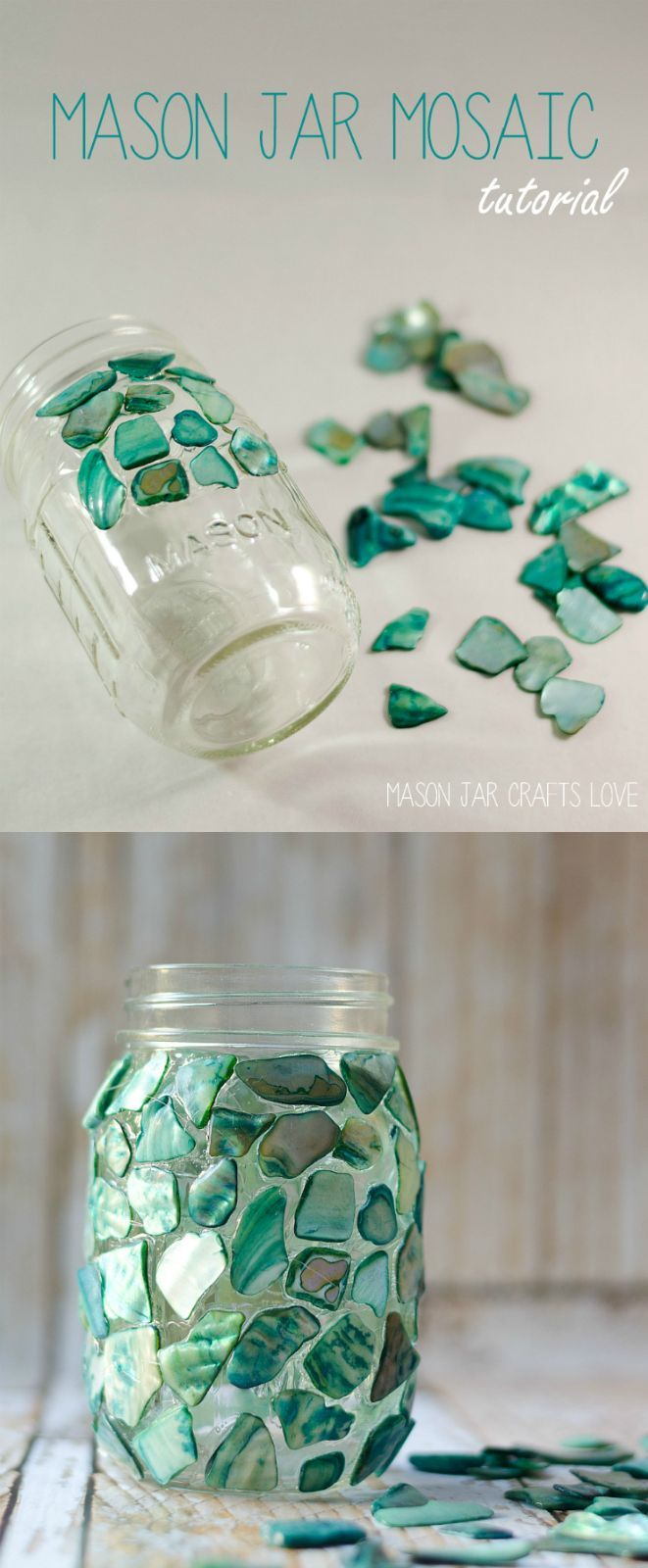Diy Crafts Mason Jar Craft Ideas Mason Jar Mosaic Mosaic Craft
