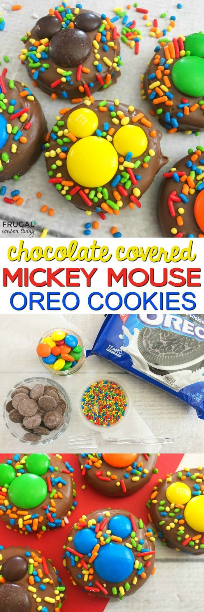Mickey Mouse Food Idea. These  Chocolate Covered Mickey OREOs are fun for a Mick...
