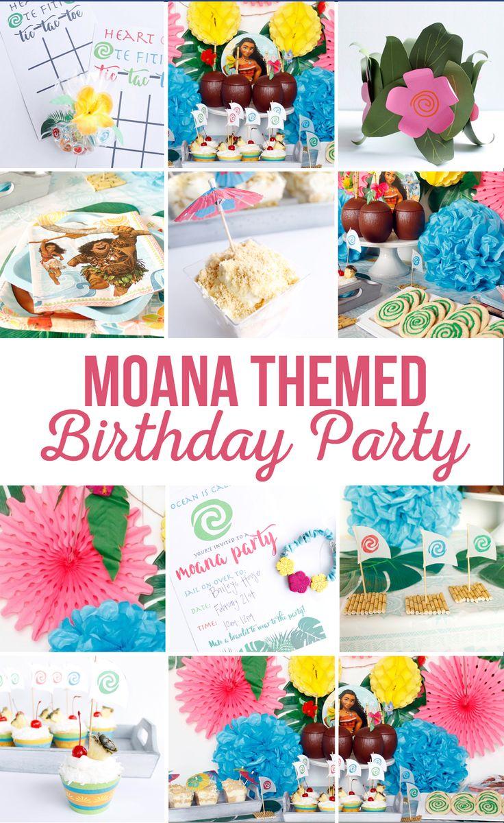 Moana Themed Birthday Party