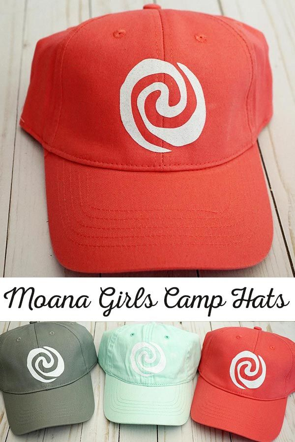 Moana Themed Girls Camp Hats | Ball caps with the Heart of Te Fiti for Moana The...