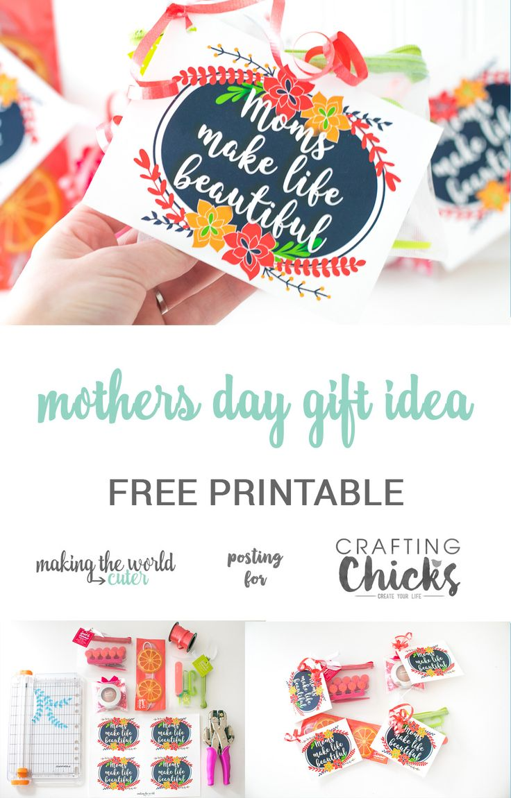 Mothers Day Gift Idea For Friends Free Printable Tag With A Sweet Quo
