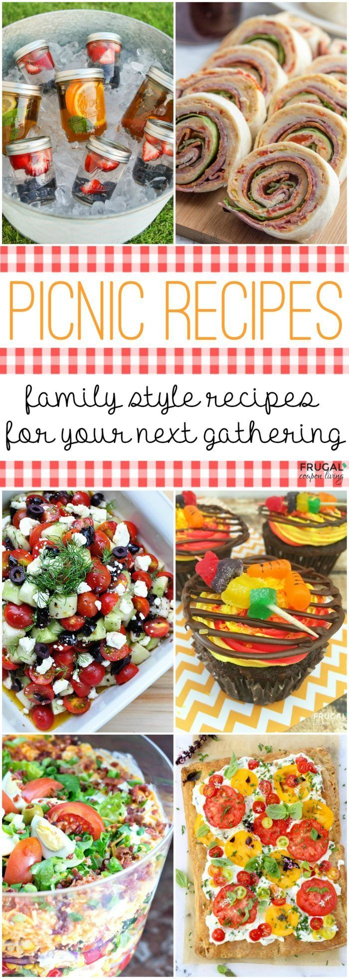 Picnic Food Ideas - Tasty picnic recipes that can be prepared and enjoy outdoors...