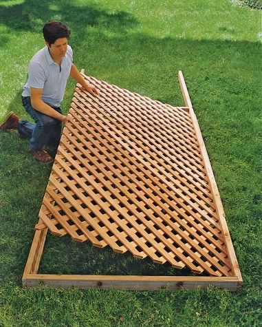 Place the lattice so that it floats freely within the center of the frame, makin...