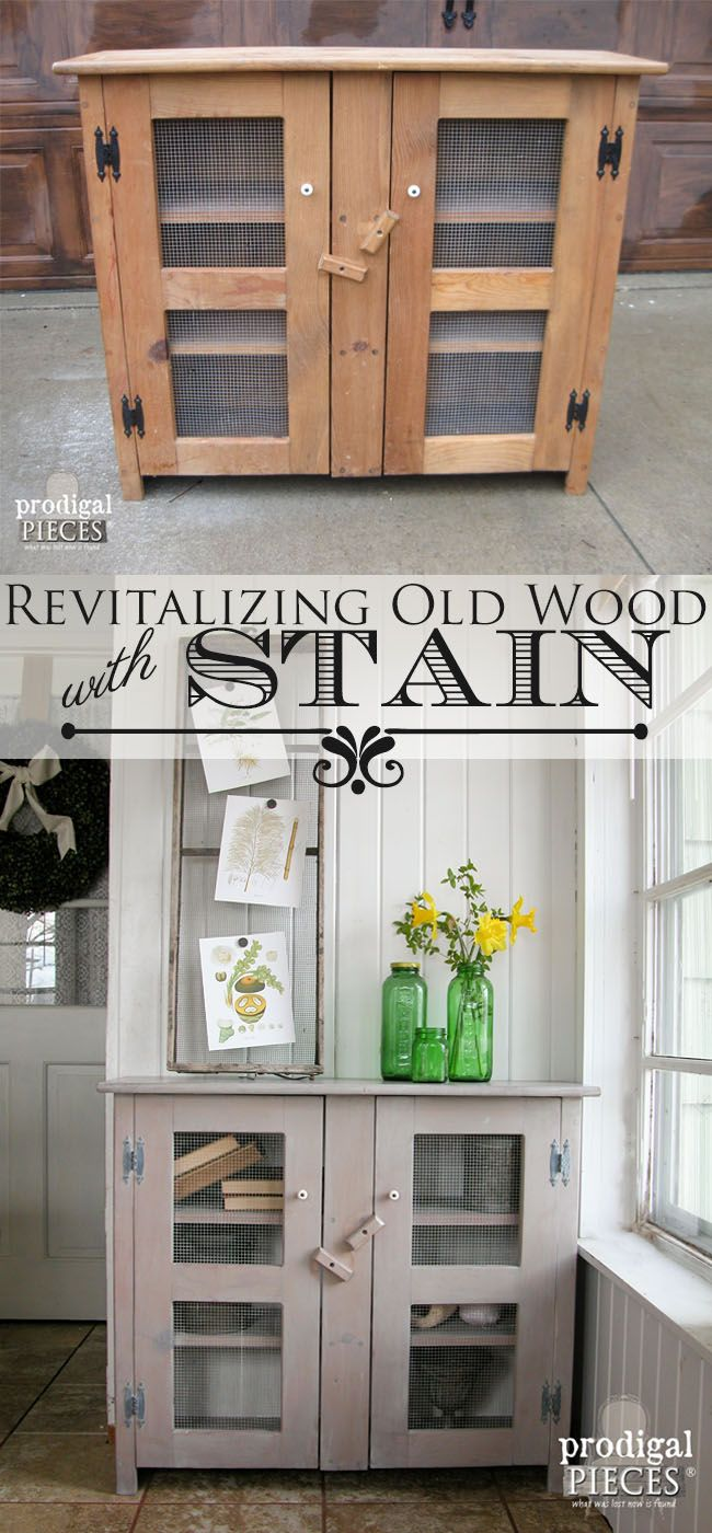 Revitalizing Old Wood with One Easy DIY Method - Stain by Prodigal Pieces | www....