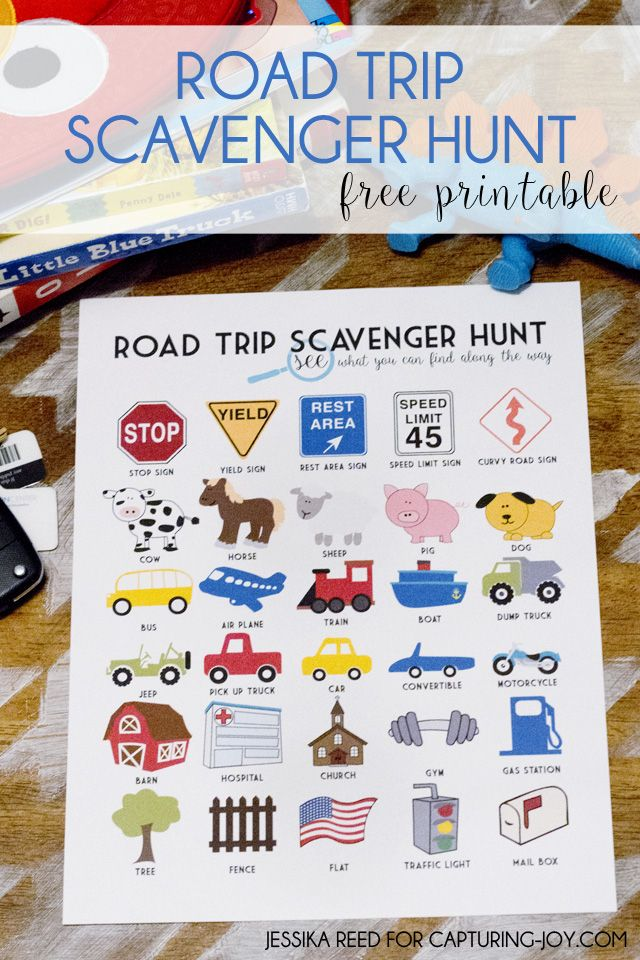 Road Trip Scavenger Hunt idea! Fun way to enjoy your next #roadtrip