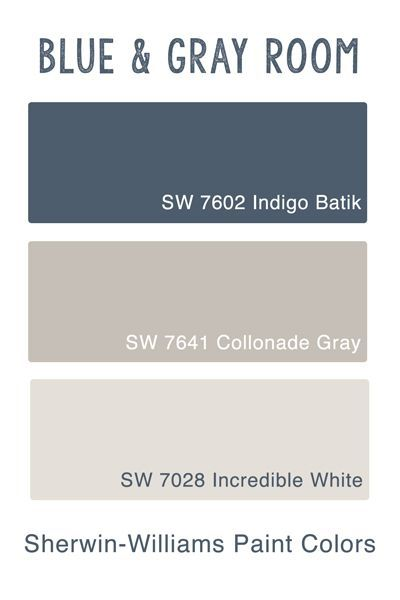 Sherwin Wiliams Blue & Gray Room - Guest Bedroom Inspiration & Paint Colors - go...