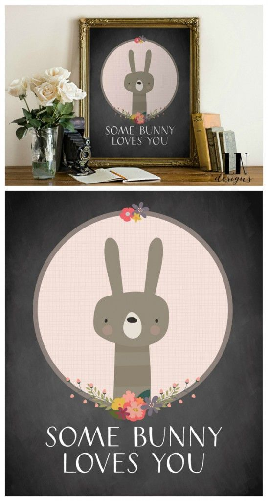 Some Bunny Loves You! | Free Easter Prints